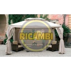 SET 4 TELI LATERALI PER GAZEBO SAHARA MT.3X4