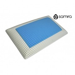 GS15MF - Cuscino memory foam saponetta, guanciale sfoderabile Azzurro lavanda -