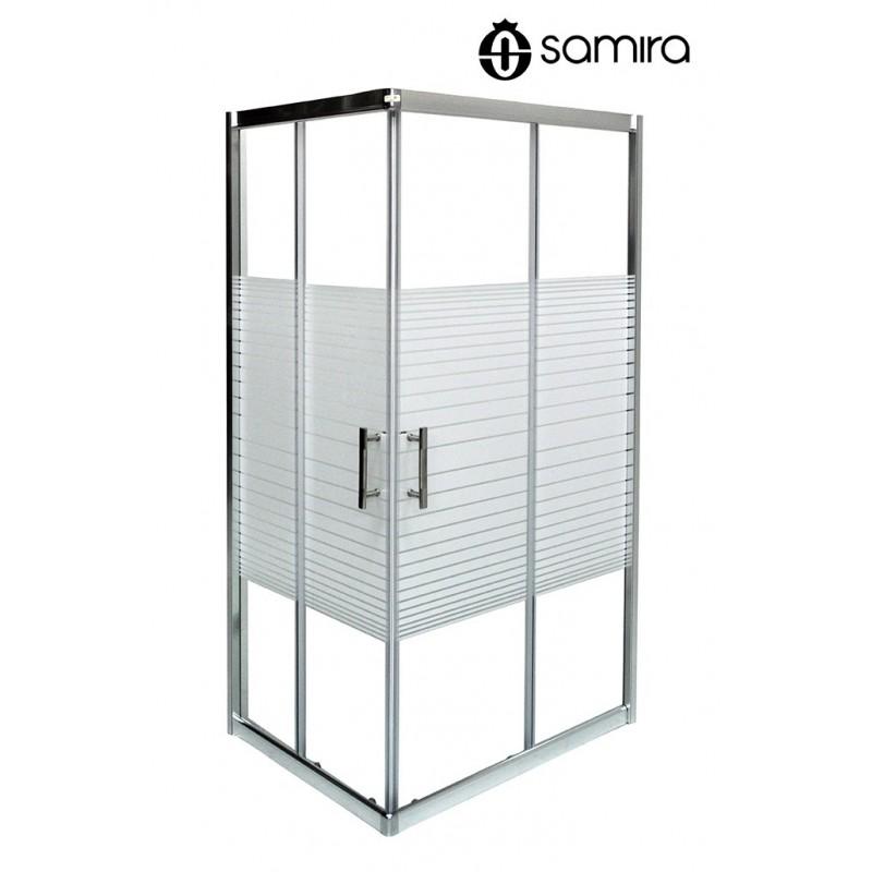 Box doccia 70x70 Bamboo in cristallo serigrafato 5 mm