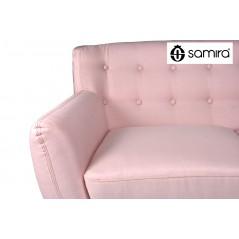 DI-EM192P - Divano 2 posti in tessuto rosa dallo stile scandinavo mod. Emily -
