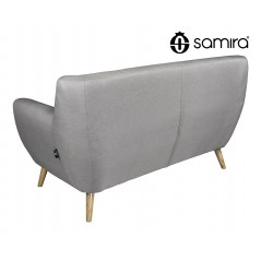 DI-EM032P - Divano 2 posti in tessuto tortora dallo stile scandinavo mod. Emily -