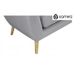 DI-EM012P - Divano 2 posti in tessuto grigio dallo stile scandinavo mod. Emily -