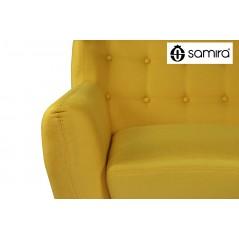 DI-EM162P - Divano 2 posti in tessuto giallo dallo stile scandinavo mod. Emily -