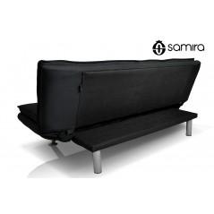 DL-IR10FBC - Divano letto clic clac in tessuto nero, divano 3 posti mod. Iris -