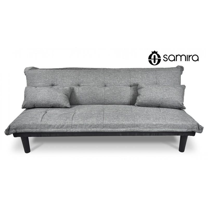 DL-RU01FB - Divano letto clic clac, divanetto Russell grigio chiaro -