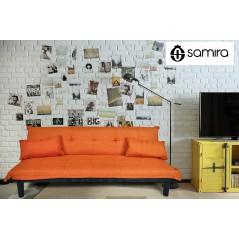 DL-RU06FB - Divano letto clic clac mod. Russell in tessuto arancione -