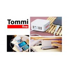 TOMMI FIVE - Caricabatteria usb 5 porte alimentatore tommi five -