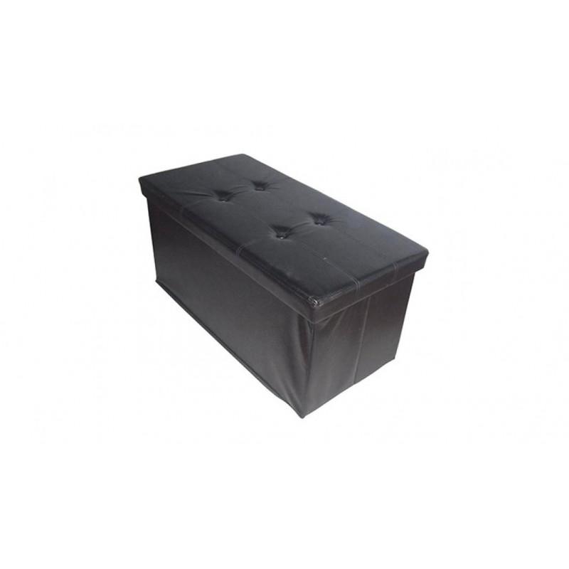 CA 14978 - Pouf storage nero 78x38x38(h) cm -