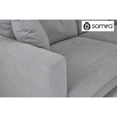 DI-CH01FBC - Divano 3 posti  in tessuto vellutato grigio mod. Chloe -