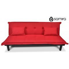 DL-RU02FB - Divano letto clic clac in tessuto rosso - divanetto mod. Russell -