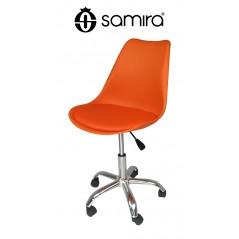 Sedia da ufficio girevole, sedia da scrivania arancione con rotelle mod. SALLY