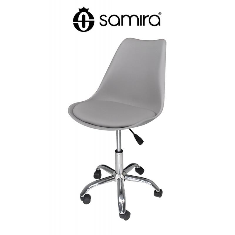 Sedia da ufficio girevole, sedia da scrivania grigia con rotelle mod. SALLY - SU01SAPM