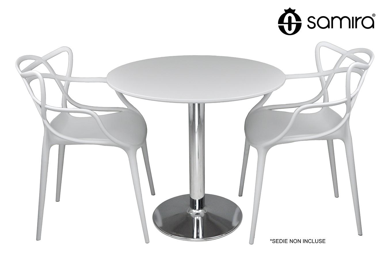 Tavolo Rotondo 80 Cm Bianco Tavolino Da Bar Mod Romeotavoli