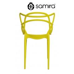 sedia in plastica gialla