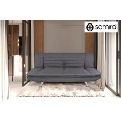 DL-IR01FBC - Divano letto clic clac in tessuto grigio, divano 3 posti mod. Iris - ambientazione