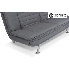 DL-IR01FBC - Divano letto clic clac in tessuto grigio, divano 3 posti mod. Iris - dettaglio