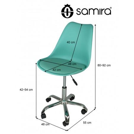 Sedia da ufficio girevole, sedia da scrivania verde acqua ...