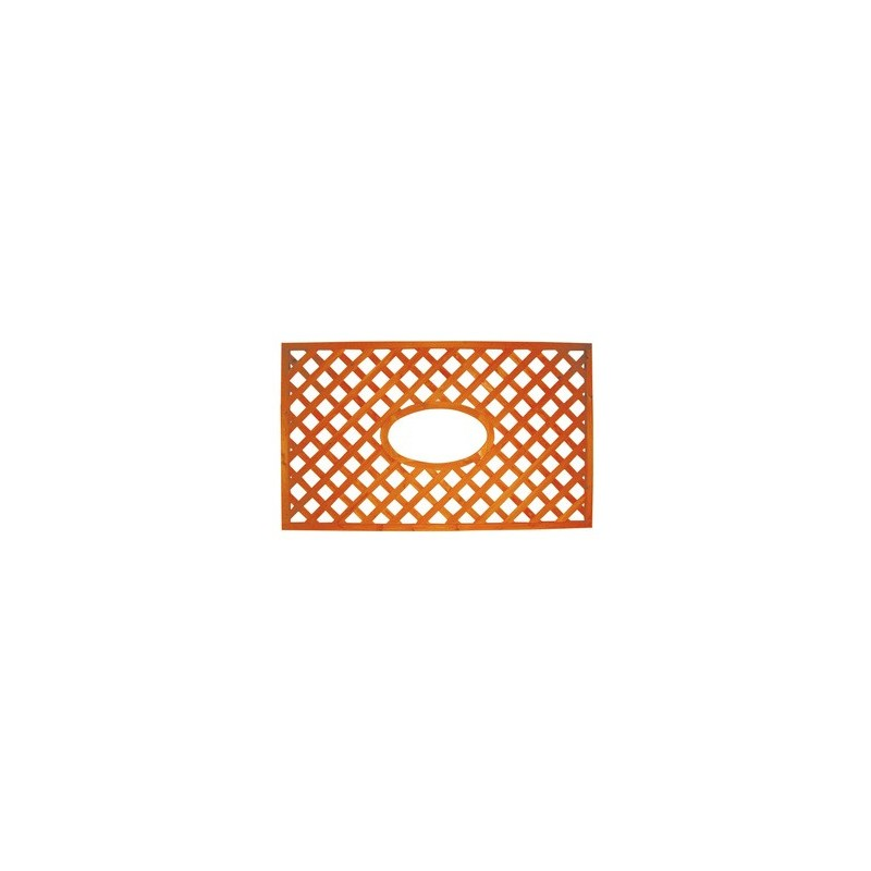 PANNELLO GRIGL.LEGNO CM.150X90H C/OVALE ORIZZ