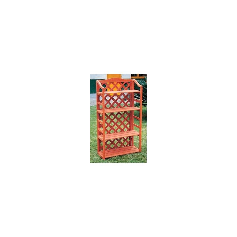SCAFFALE LEGNO C/GRIGLIATO 67X30X125 A.ZY018