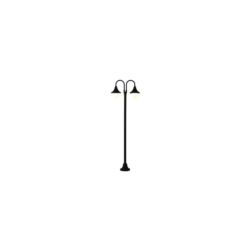 LAMPIONE PARIGI 2 BRACCI NERO